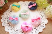 Pet hair accessories dog jewelry head flower hairpin hairpin rubber band headdress Maltese Yorkshire Teddy Bear yarn