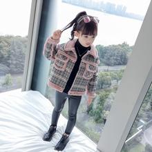 儿童秋冬仿皮草洋气夹克 中大童韩版 外套加厚加绒2018新款 女童冬装