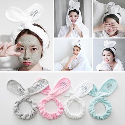 可爱兔子耳朵束发带女头饰韩版洗脸发箍化妆敷面膜发带韩国包头巾