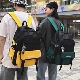 书包女ins风双肩包男时尚潮流韩版原宿高中学生初中生大容量背包图片