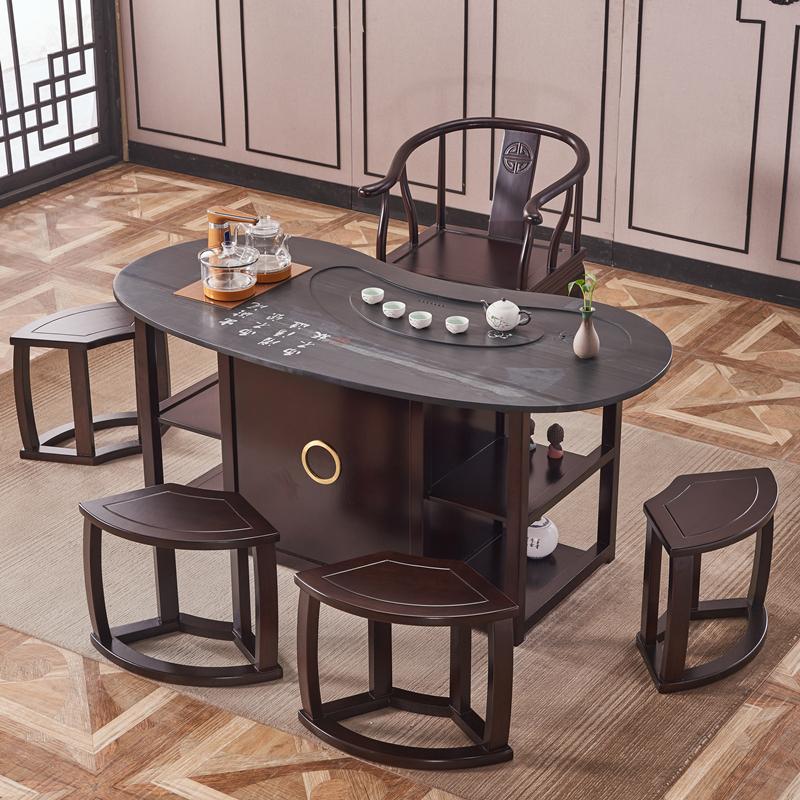 黑檀茶桌椅组合