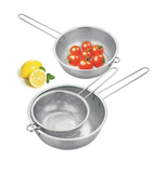 Stainless steel single handle, dense hole, multi-purpose basin, fruit basket, fried liquefaction, deep-fried basket, punching, draining, rice, oil, fruit and vegetable basket