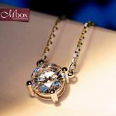Mbox日韩国纯银项链女士925银饰吊坠生日情侣简约大方网红锁骨链