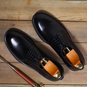 职场新贵意大利真皮圆头商务正装皮鞋婚礼宴会男鞋办公室德比鞋