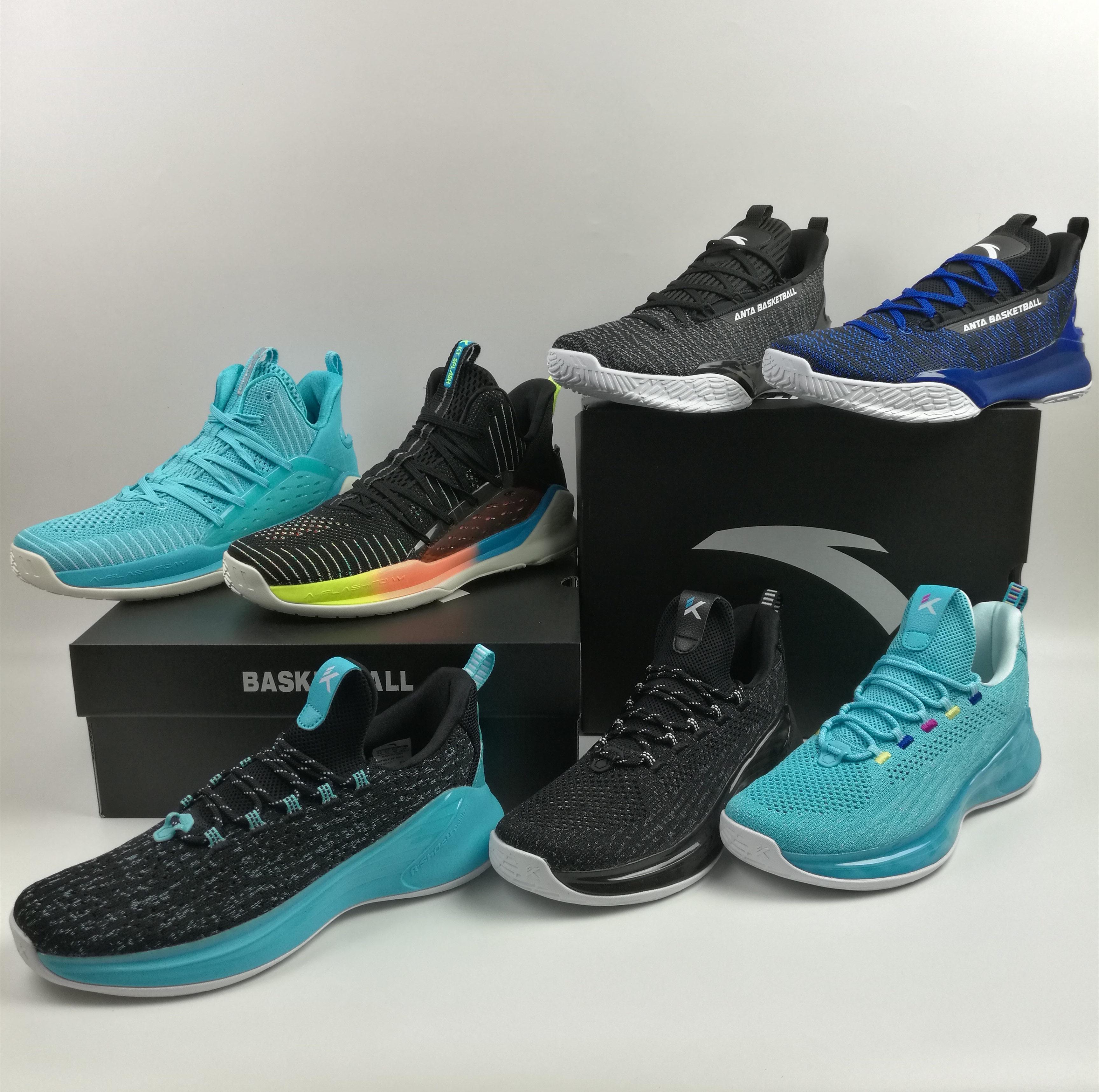安踏篮球鞋汤普森轻骑兵4代KT低帮透气运动男鞋11921668 11921601