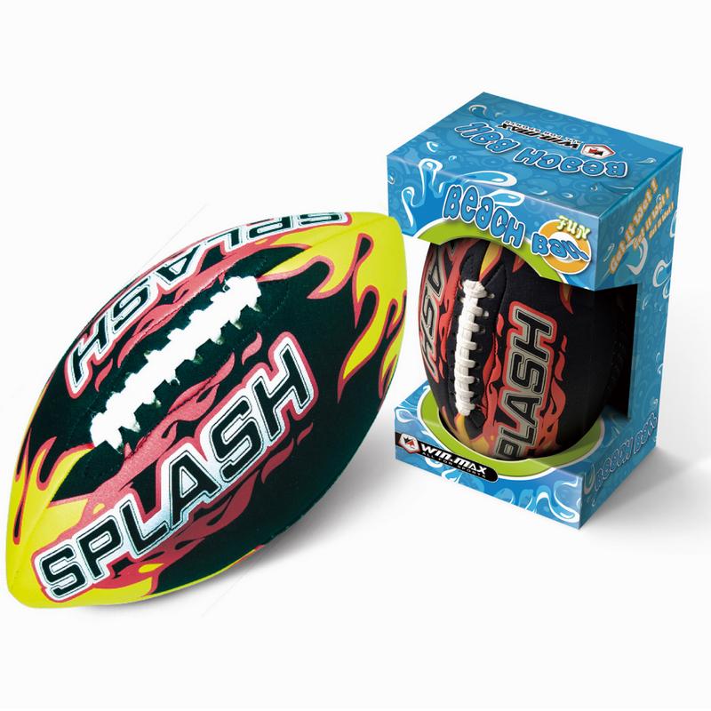 威玛斯礼盒装火焰沙滩橄榄球  训练专用球 青少年款