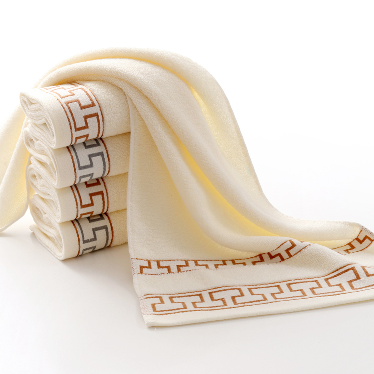 towel cotton home wash face towel soft embroidered word printed gift towel custom