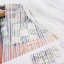 纺织布白色加密网眼百褶风琴皱褶涤纶网纱蓬蓬裙婚纱面料 服装图片