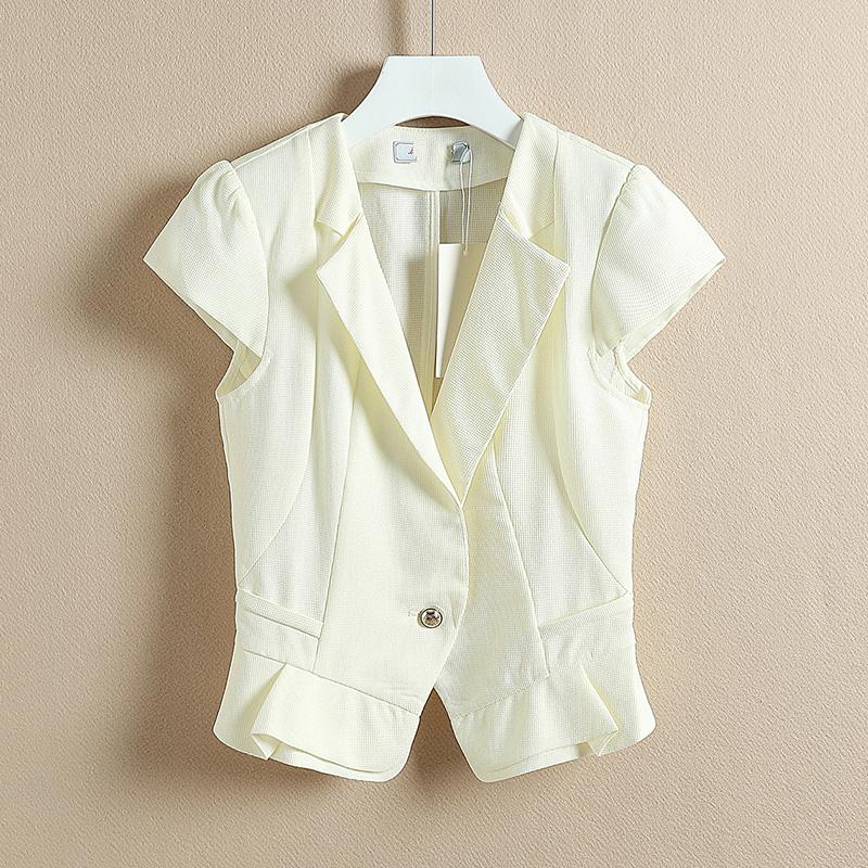 小西装女外套夏装短袖
