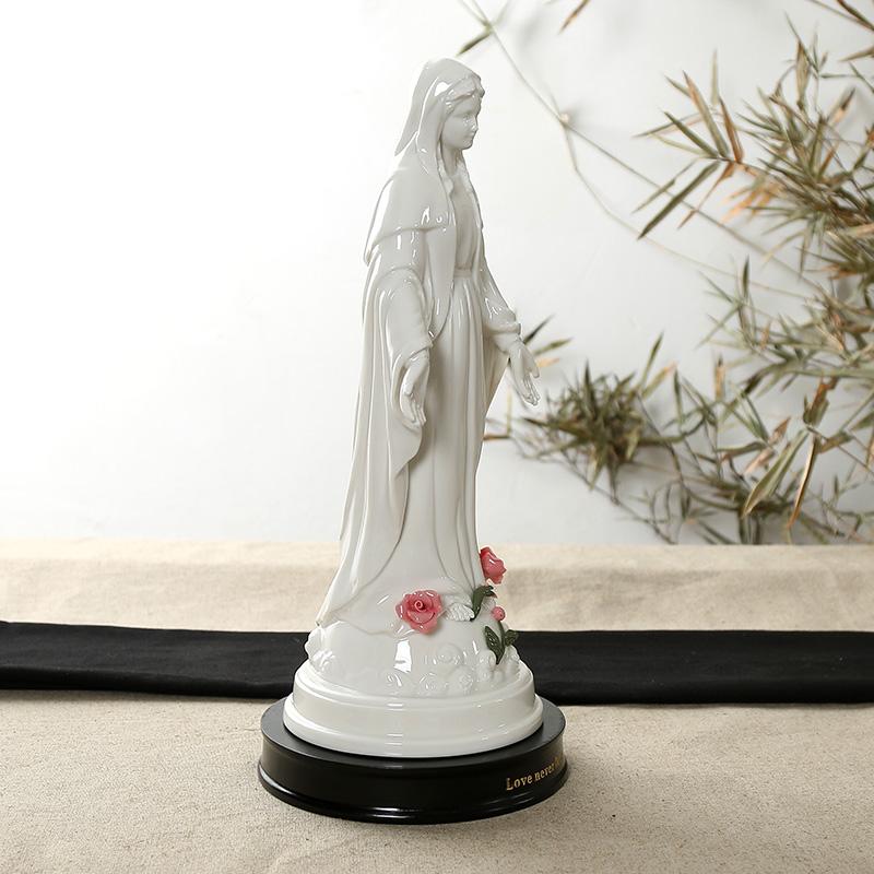 天主教无染原罪圣母像基督圣家像徒陶瓷摆件福音圣物结婚饰品礼品