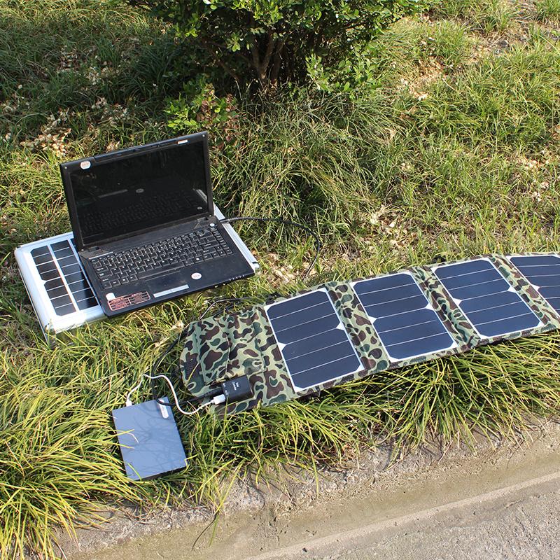 折叠太阳能充电器40W地震救援便携笔记本18V汽车12V电瓶应急发电