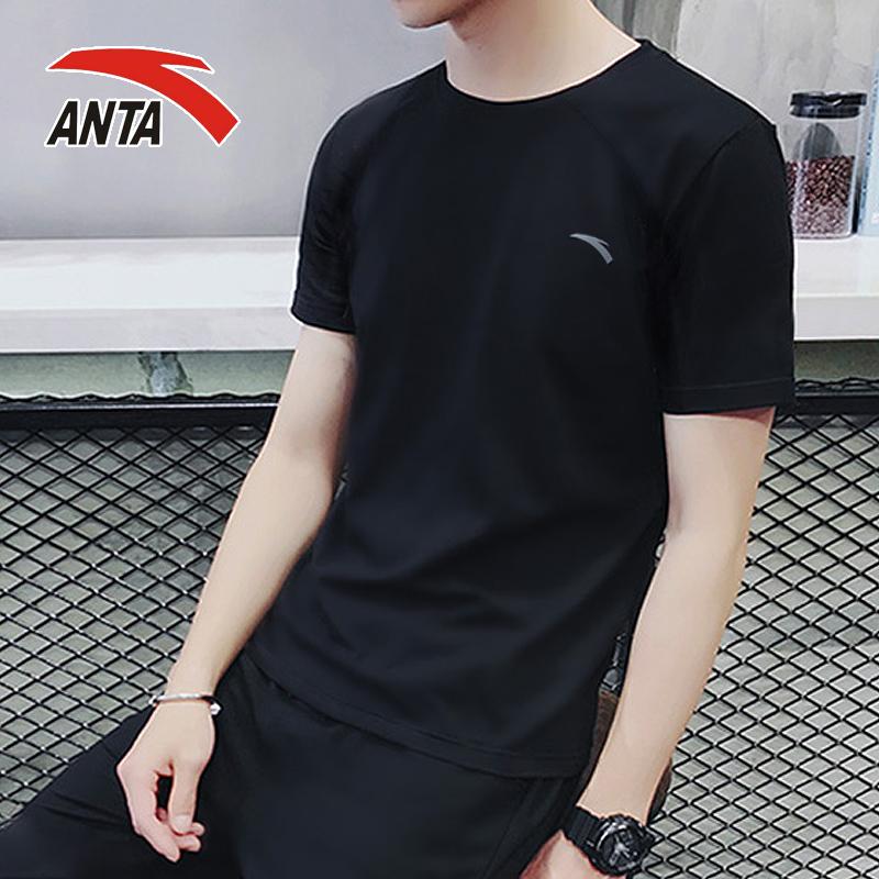 安踏短袖T恤男装2020夏季正品吸汗速干透气跑步健身上衣运动服男