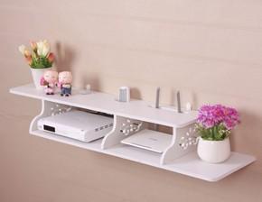 货物多层钉在墙上的置物架电视机顶盒架子背景墙挂墙格子挂板柜子