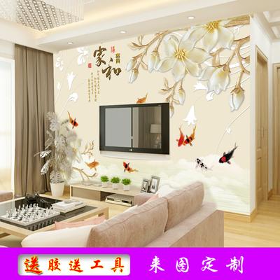 3D立体客厅电视背景墙壁纸5D影视墙壁画自粘墙纸8D卧室无缝墙布