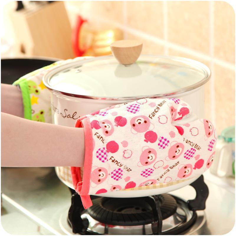 隔热手套家用微波炉烤箱防烫手套烘焙耐高温耐磨女手套厨房棉手套