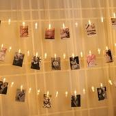 饰麻绳夹子悬挂无痕钉创意个性 少女心卧室宿舍明信片网格照片墙装
