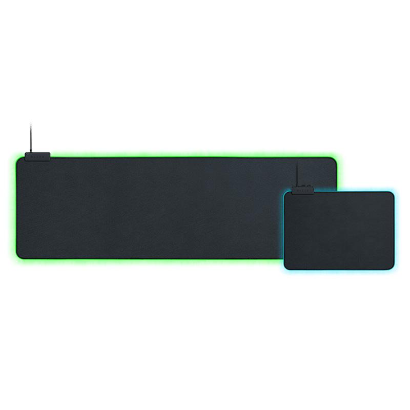 Razer雷蛇重装甲虫幻彩版鼠标垫加长款粉晶水银织物布垫游戏RGB灯