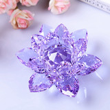 Town store treasure crystal lotus car with inner jewelry ornaments wedding gifts home decorations creative furnishings to send