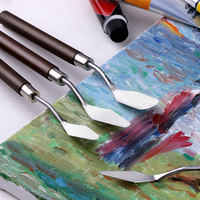 Zhongsheng painting material Art scraper oil painting knife palette knife gouache pick knife paint knife set knife painting material