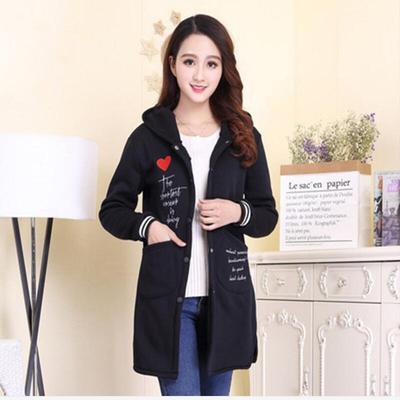 韩版新款春秋装加绒修身显瘦学生中长款卫衣ins棒球服女风衣外套