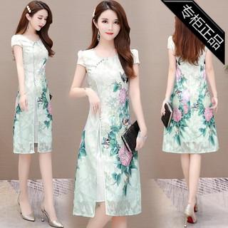 专柜品牌春夏女装夏天裙子很仙的气质时尚旗袍裙潮流宽松薄连衣裙