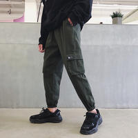 @港仔文艺男 Plus velvet padded pants overalls tide brand loose Korean version of the trend ins casual pants winter