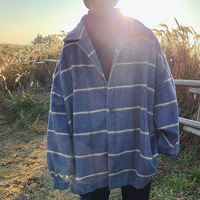 @港仔文艺男 Korean version of the loose men's woolen coat winter trend thickening woolen coat handsome windbreaker