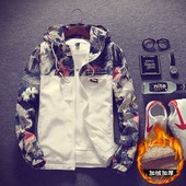 男士加厚夹克秋冬季学生外套韩版修身运动休闲外衣服花褂子潮男装