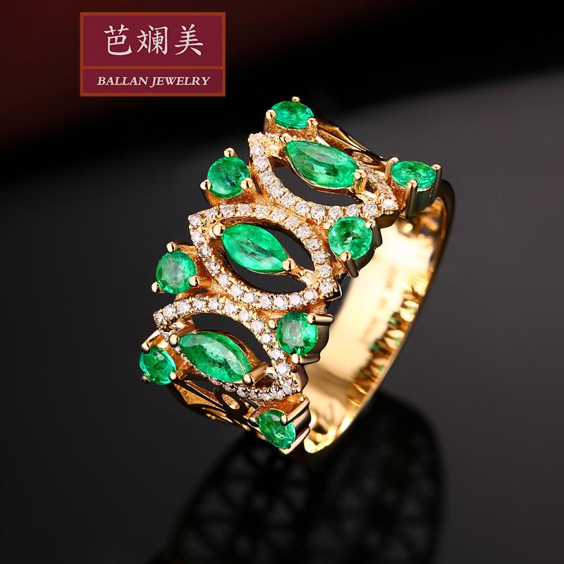 祖母绿戒指18k黄金
