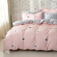 床上纯棉床单被套两件套全棉床笠被套2件套床罩被罩二件套