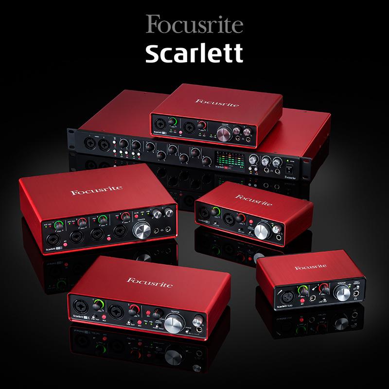 【叉烧网】Focusrite Solo 2i2 2i4 6i6 18i8 18i20 声卡 解码器