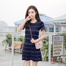 Taobao Tianmao Tremble Live Popular New Kind of Women's Summer 2018 Knitted Slim Suit Sportswear