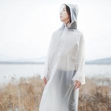 加厚一次性雨衣女成人韩国时尚徒步户外防水旅游透明全身雨披套装
