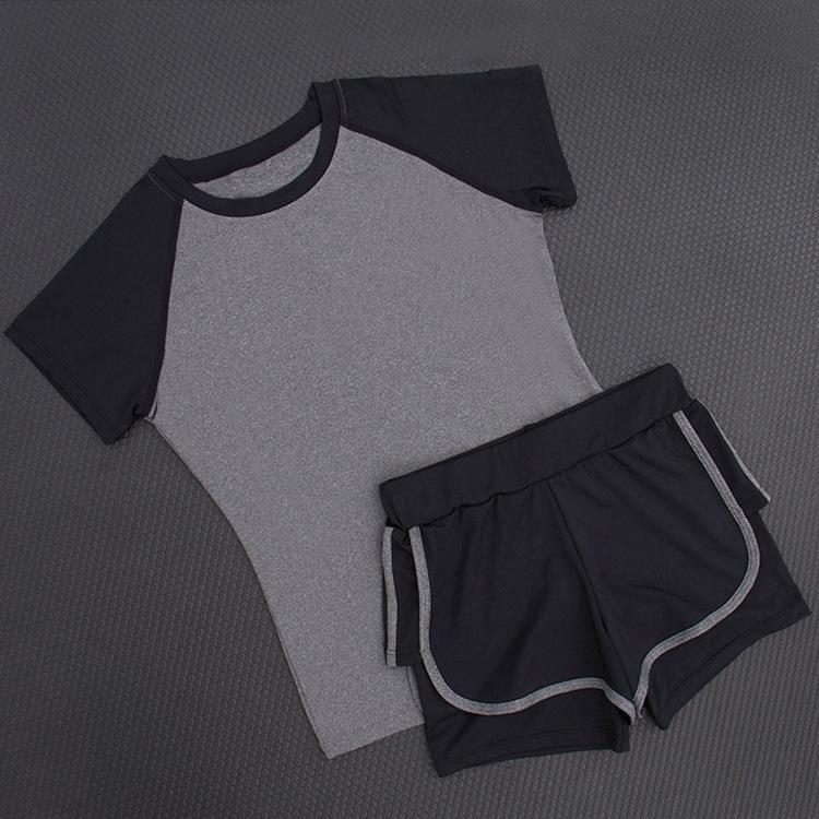 棉短袖瑜伽服套装
