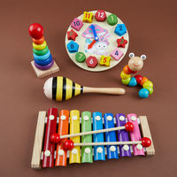 Children's baby hand knock on the piano eight-tone small xylophone 8 months baby intellectual music toy 1 2-3 years old 0