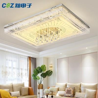 LED吸顶灯长方形遥控大气客厅灯具现代简约卧室灯餐厅吊灯水晶灯