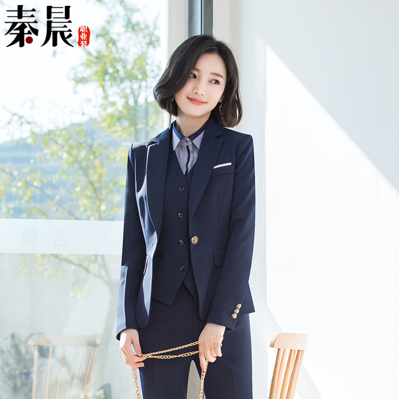 Business wear suit female office white-collar fashion suit temperament Slim interview is loading and unloading