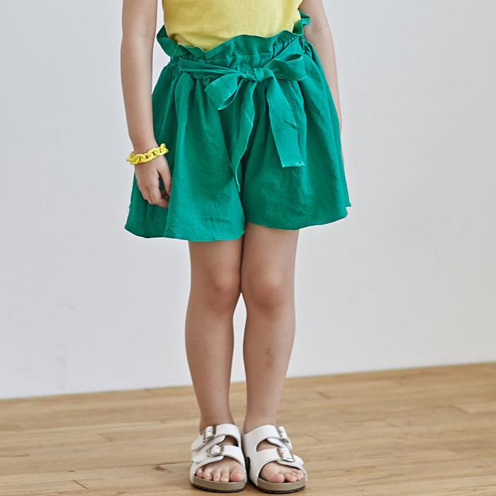 韩国进口童装2018夏款儿童STORY ANNE女童系带百搭短裤