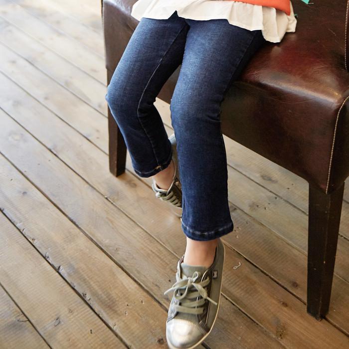 韩国进口童装2018春款儿童JOEUN-AI女童修身牛仔裤