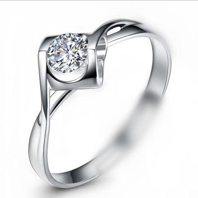 正品老凤祥云戒指新款S925纯银送女友爱人情人的天使之吻钻戒礼品