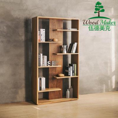北欧简约现代实木书柜橡木黑胡桃木书架置物架日式客厅隔断厅柜特价