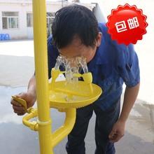 紧急喷淋立式洗眼器装置双口冲淋器洗眼机碳钢复合落地洗眼器验厂