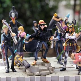 海贼航海王手办模型公仔玩偶摆件全套造型王路飞乔巴索隆生日礼物