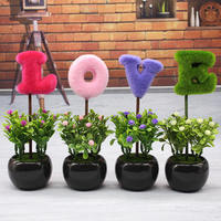 Love simulation plant small potted creative home furnishings living room desk TV cabinet mini decorative fake flower ornaments