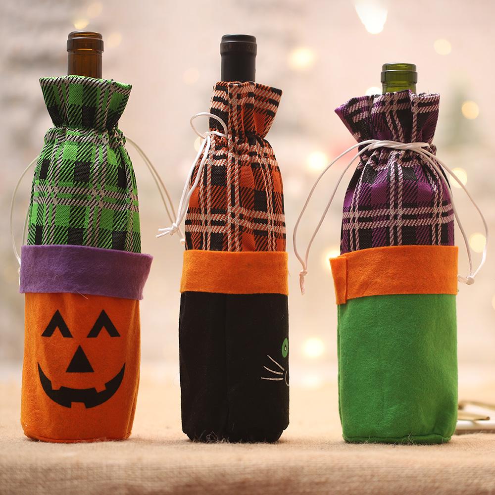 万圣节装饰酒瓶套创意巫婆南瓜红酒香槟酒瓶袋酒吧酒饭店气氛装扮
