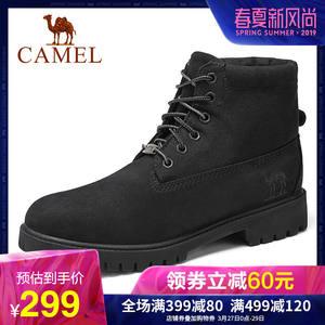 Camel骆驼男靴2019马丁靴男工装高帮真皮军靴时尚潮流百搭大黄靴
