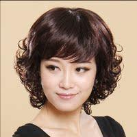 齐刘海时尚卷发套