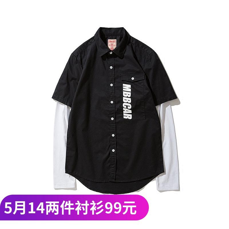 美式针织衬衣