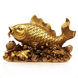 Copper mullet leaping lotus Taiwan ornaments copper even years of fish mascot Feng Shui crafts