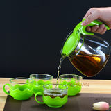 Heat-resistant glass teapot office afternoon teaglass pot with stainless steel inner bile home brew teapot set